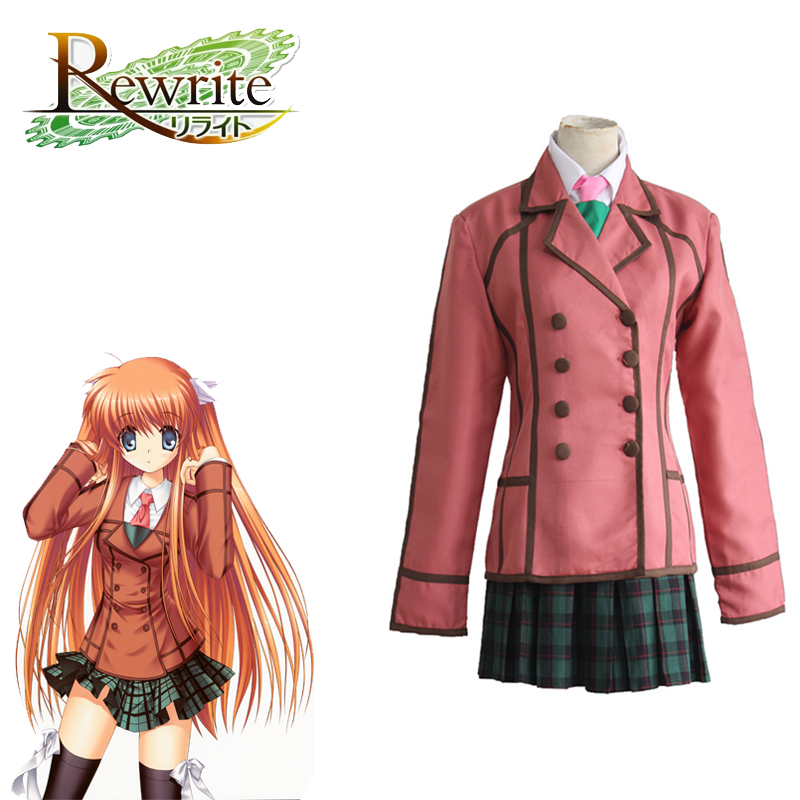 Rewrite Costume Ohtori Chihaya Costume Anime Costume Japanese Game School Uniform Suit  Full Set Costumes For Halloween Party