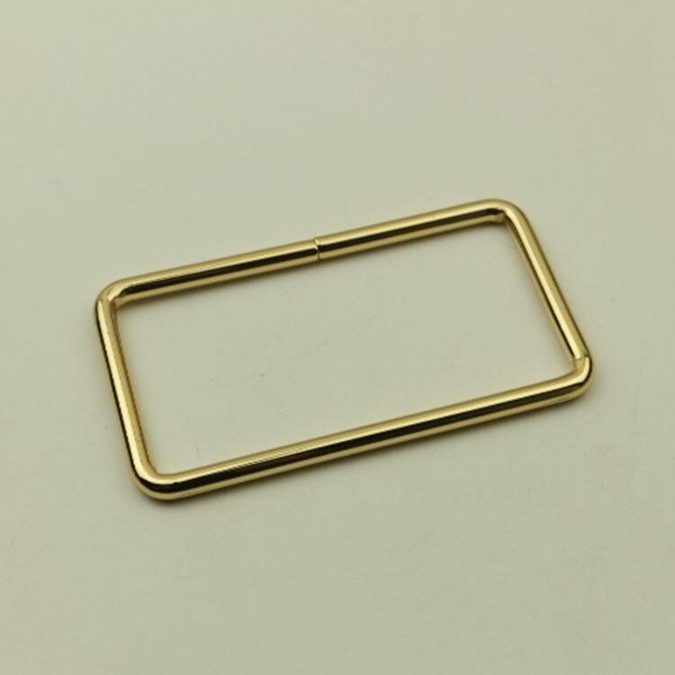 Rectangulaire De Fil Sac Métal lot Boucle En Bouton Gros Boucles Poignée Or Accessoires Ceinture Gold 50 Matériel Pièces qwFpzz