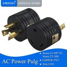 JORINDO [L5-30P для TT-30R] ul cul RV 30 Ампер 3-контактный Генератор адаптер постоянного тока в переменный конвертер,(Национальная ассоциация владельцев электротехнических L5-30P мужчина к TT-30R Женский, 3-контактный разъем