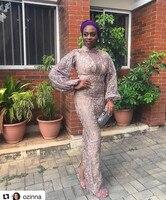В нигерийском стиле горячая Распродажа 2018 Африканский Кружево Ткань с Бусины пайетки в нигерийском стиле Тюль Ткань Высокое качество Франц