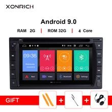 Xonrich 2 Din Android 9,0 универсальный автомобильный DVD мультимедийный плеер gps навигация Wifi автомобильный радиоприемник с Bluetooth стерео USB головное устройство аудиосистемы