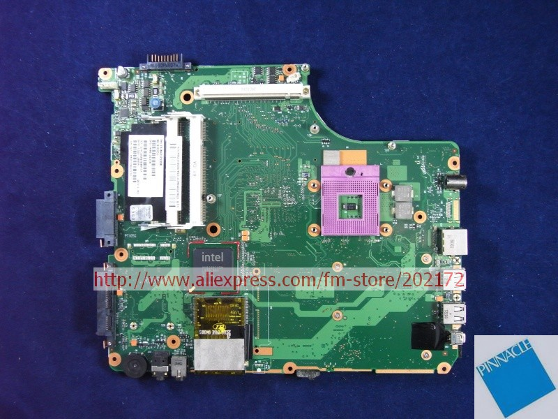 V000126340 Motherboard for Toshiba Satellite A300  6050A2171301 nokotion sps v000198120 for toshiba satellite a500 a505 motherboard intel gm45 ddr2 6050a2323101 mb a01