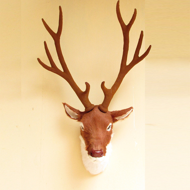 Outstanding Plastic Deer Head Wall Decor Model   Wall Art Design .