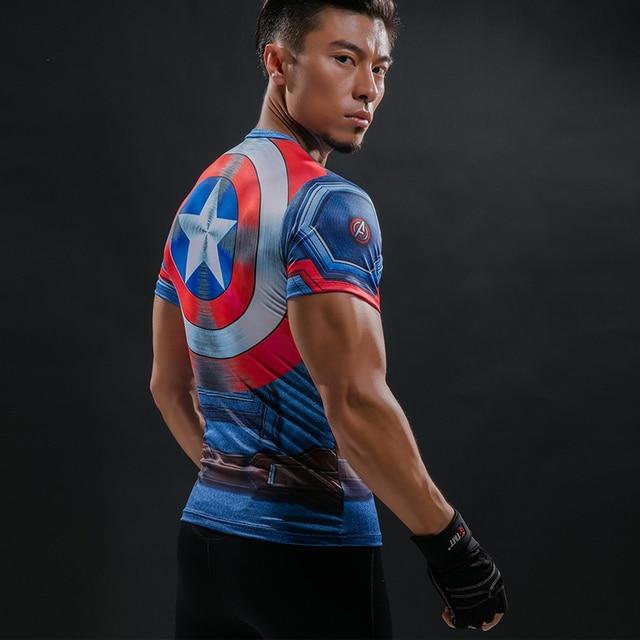 Camiseta Capitão América Escudo Guerra Civil Tee 3D Impresso T-shirts homens  Vingadores Da Marvel 27627ca7f0a6b