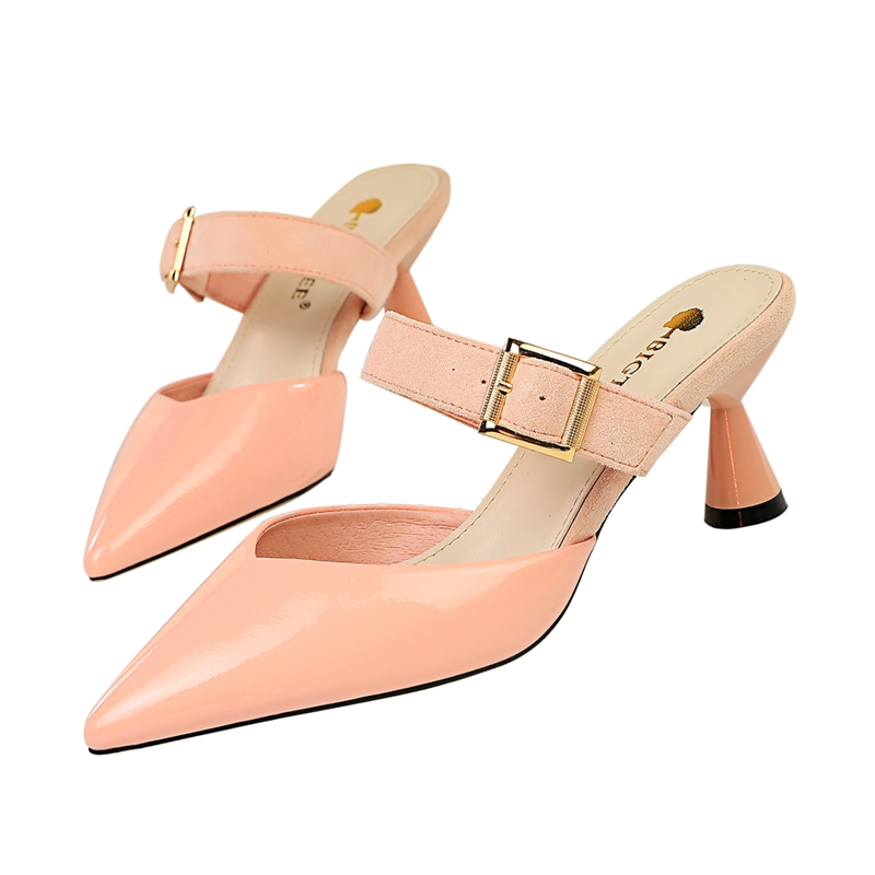 Fashion Spike Heel Sandals Women Slippers Womens Pumps High sandales femme 2019 Summer Slip on Party Wedding Shoes Woman