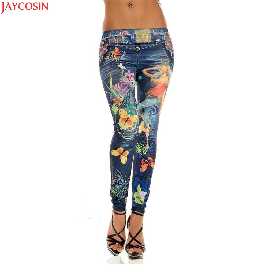 Sexy 2018 Drop Shipping WH Ladies Casual Sexy Womens Skinny   Jeans   Casual Cotton Blend Denim Leggings Stretchy Jeggings Pants