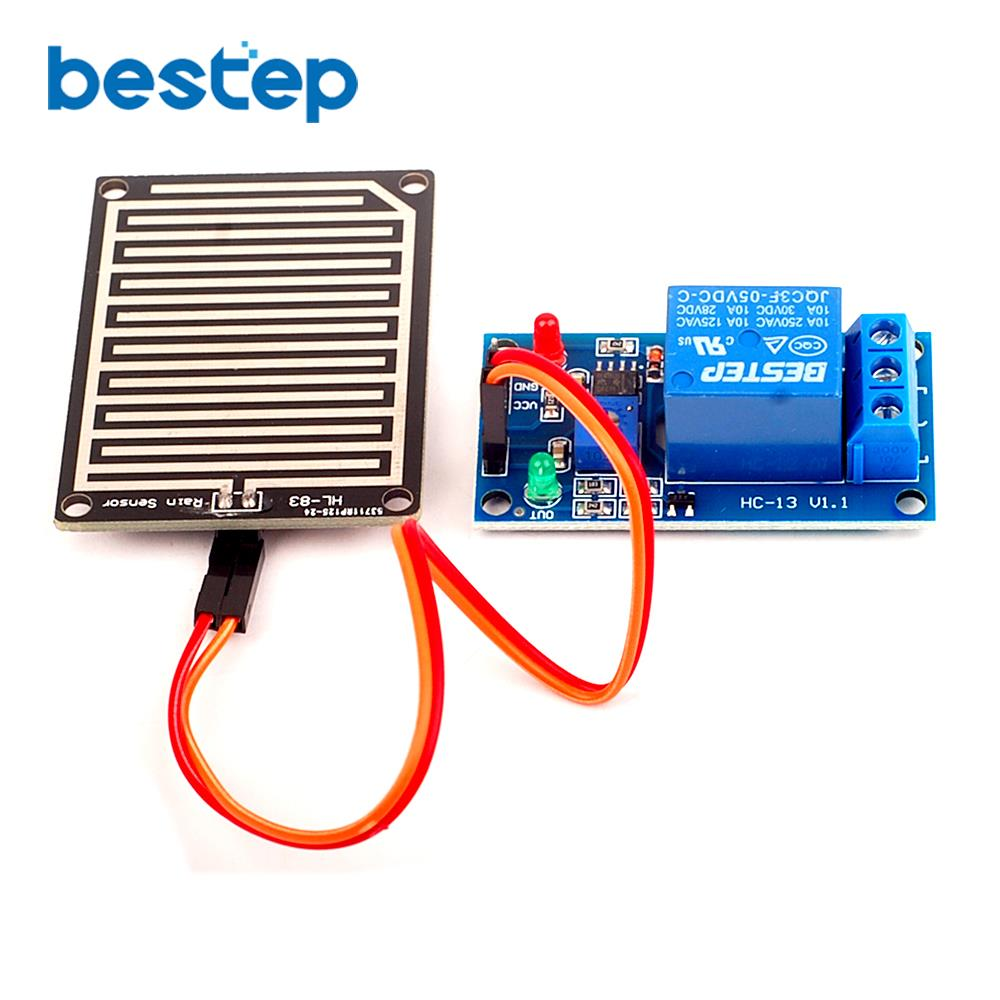 1 stücke 5V Regentropfen Controller Modul Mit Relais Regen Sensor Modul Blatt Feuchtigkeit