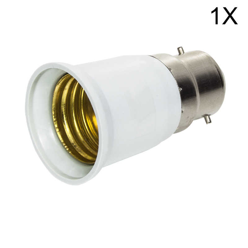 1x Big Promortion B22 to E27 Base LED Light Lamp Bulb Fireproof Holder Adapter Converter Socket Change