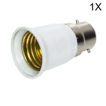 1x Big Promortion B22 to E27 Base LED Light Lamp Bulb Fireproof Holder Adapter Converter Socket Change(China)