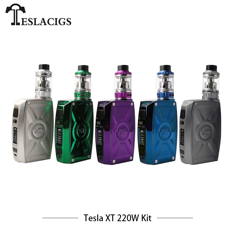 Original Tesla XT 220W TC Kit with Tallica Mini Tank Atomizer Teslacigs 220W XT Box MOD Vape Electronic Cigarette Vaporizer цена