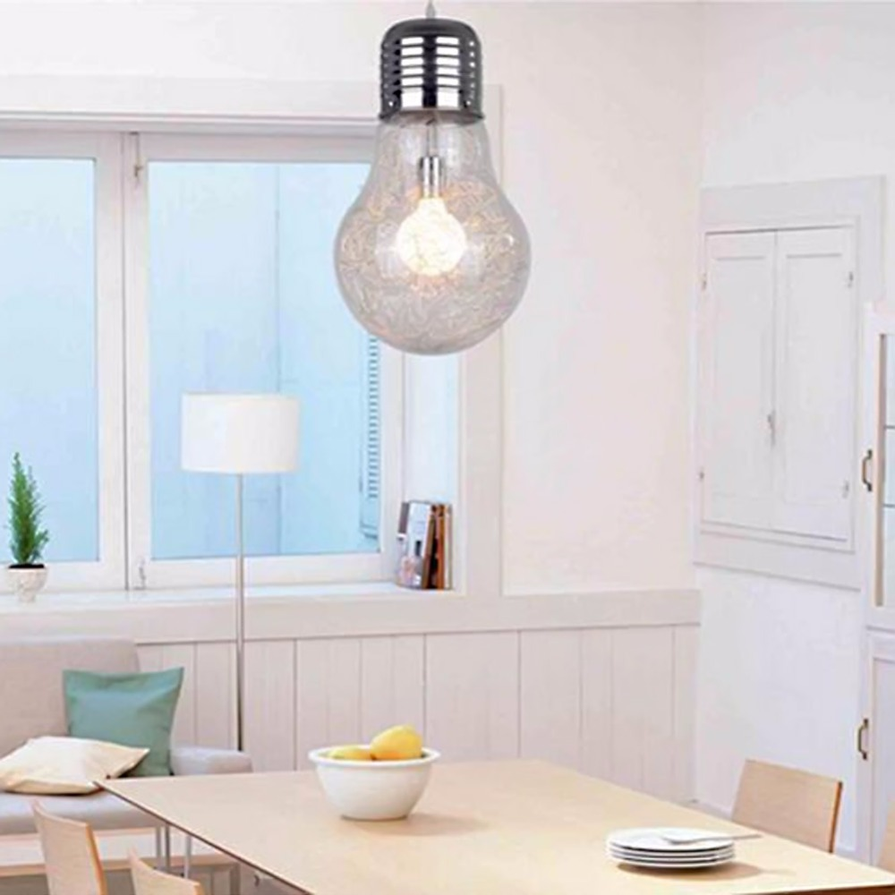 Small Size Modern Brief Personalized Glass Big Bulb Pendant Light Pendant Lamp Living Room Bedroom Restaurant Decor Hang Lamp modern brief white pendant lamp personalized light restaurant modern pendant light lighting