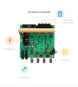Image 2 - 100W + 100W 2.0 Audio Eindversterker Board Hifi Stereo Versterking Digitale Reverb Microfoon Versterker Tone Board