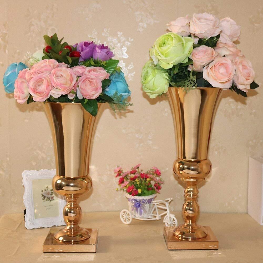 80cm Tall Wedding Flower Vase Metal Trumpet Vase For: 43cm 49cm Tall Metal Gold Flower Vase Elegant Trumpet