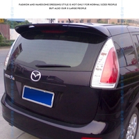 For Mazda 5 Spoiler 2005 2010 ABS Plastic Rear Roof Spoiler Wing Trunk Lip Boot Cover Car Styling