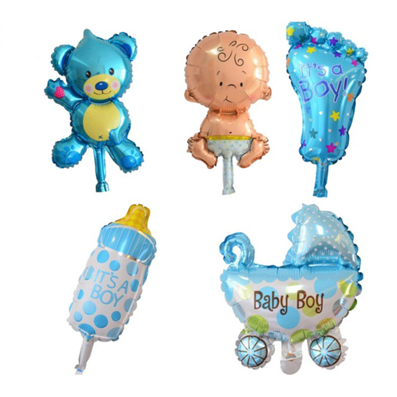 Mini Baby Girls Boy Balloon Shower Stroller Foil Balloons Kids Toys For Party Decoration Inflatable Air Ballon