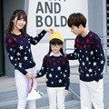 Осень детей свитер свитер звезды Корейские звезды новых осенью и зимой глава семьи из трех детей