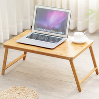 Ergonomic Folding Portable Laptop Table Standing Study Desk Bamboo Furniture Bedroom Tables Minimalist Modern Bed Laptop Stand