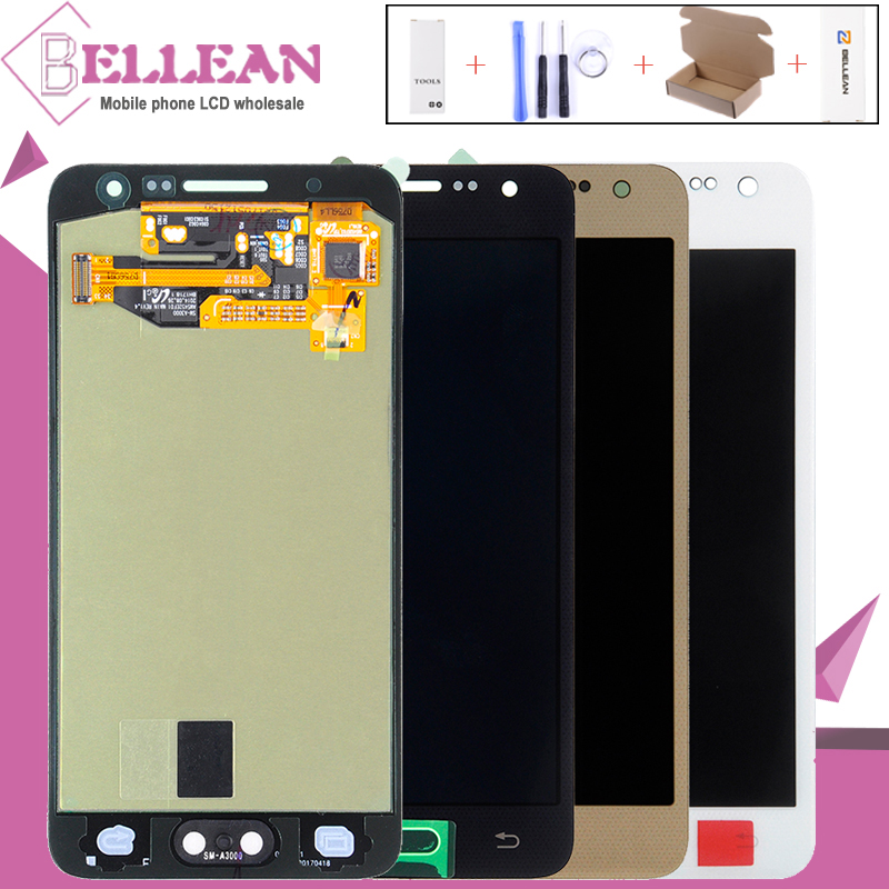 HH OLED 2015 A3 LCD Screen For Samsung Galaxy A3 Lcd A3000 A300 Display With Touch Screen Digitizer Assembly Free Shipping