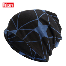 Unikevow Star Beanies & Collar Unisex Skullies Double Layer Multi-purpose Cap Autumn Spring Hats Outdoor Sport Caps