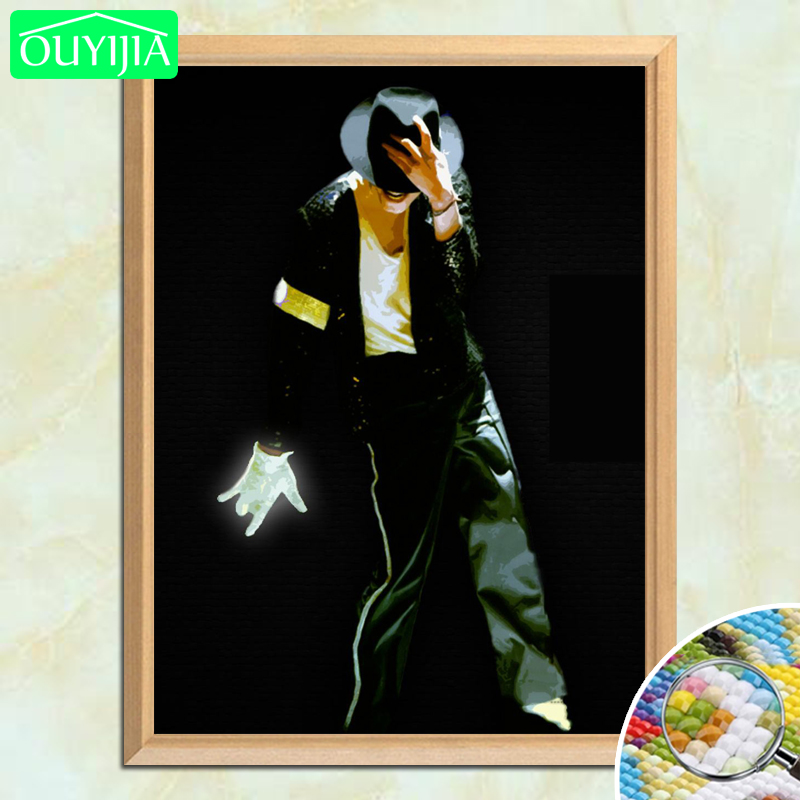 MJ Classic Pose Michael Jackson 5D DIY Diamond Painting Full Square Diamond Embroidery Sale Rhinestones Mosaic Painting Handwork