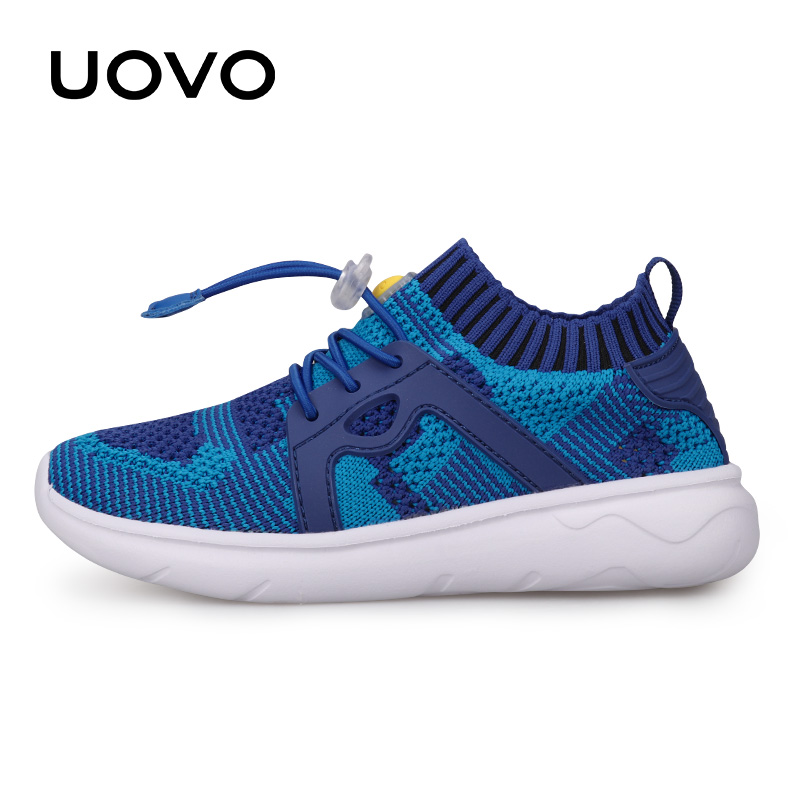 new arrival 81efb 28f64 UOVO Kids Sport Shoes Boys Running Shoes 2019 Spring Children Breathable  Mesh Shoes For Boys And Girls Fashion Sneakers 27#-37#