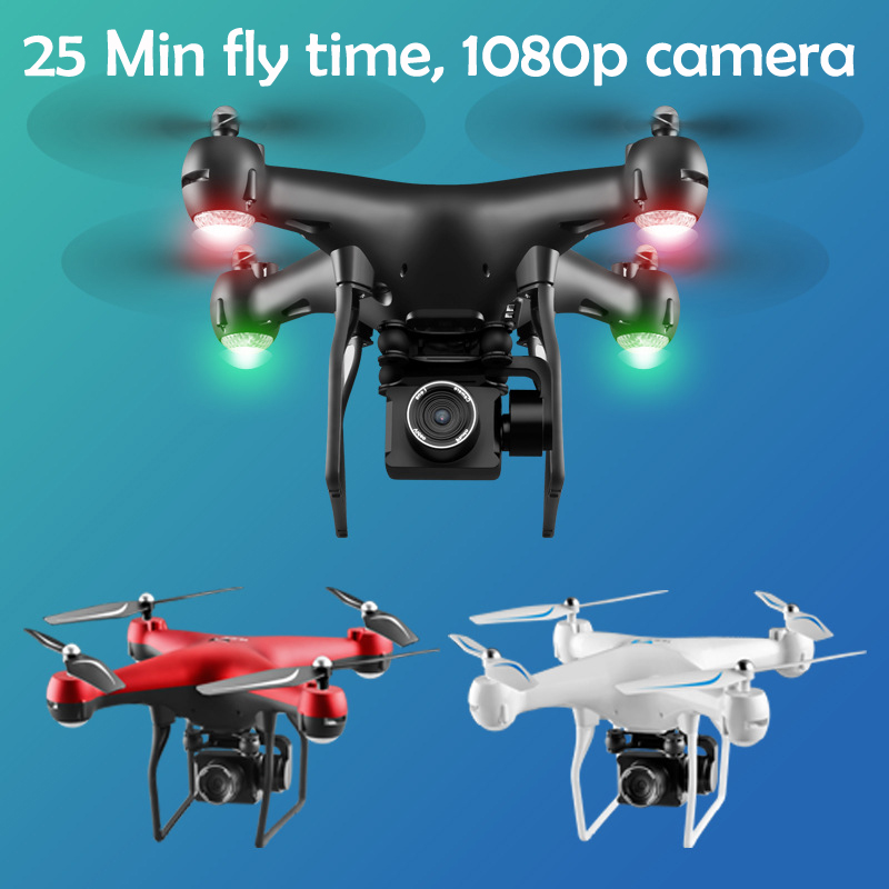 Professional RC Drone With Adjustable 1080P HD Camera 200m Distance RC Helicopter Wifi FPV 25min Flying Time Quadcopter