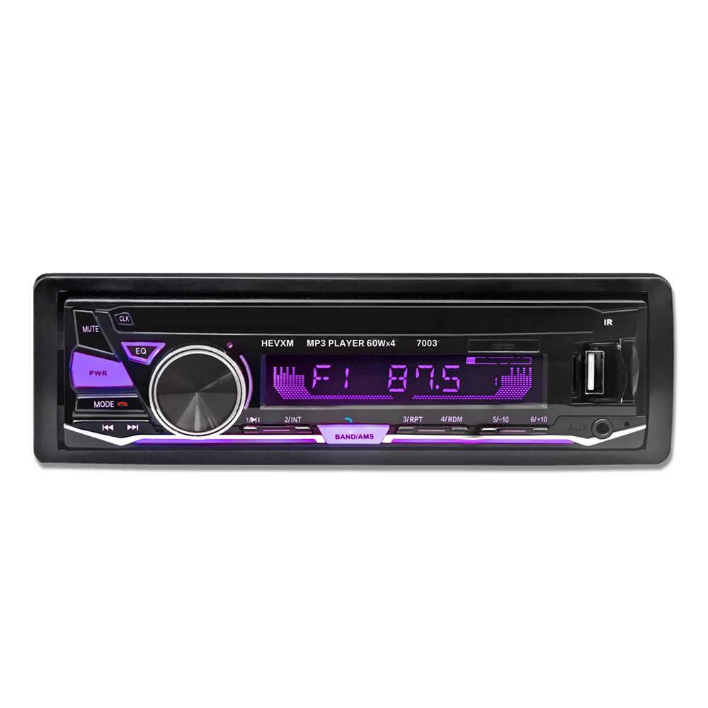 12 V Bluetooth カーラジオプレーヤーステレオ FM MP3 オーディオ 5V-Charger USB SD MMC AUX 自動車エレクトロニクスインダッシュ autoradio 1 DIN NO CD