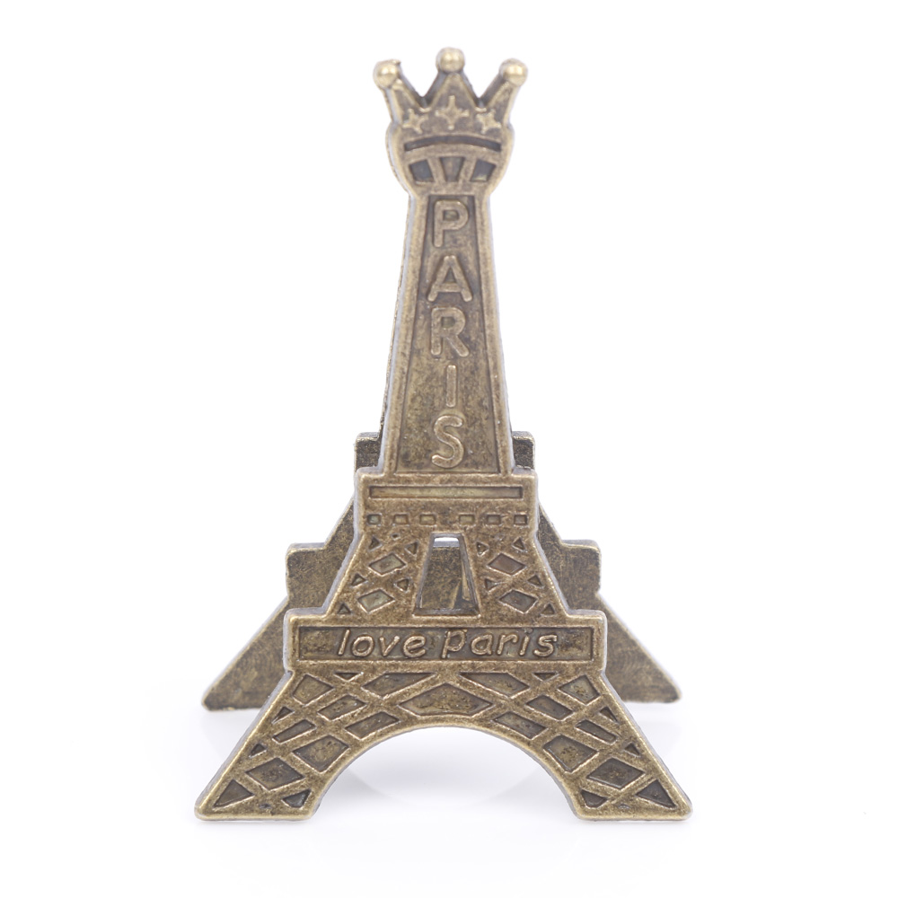Retro Style Paris Eiffel Tower Metal Clips Photo Bookmark Decoration Memo Card Paper Clip Office Supplies Accessories Gift Kids