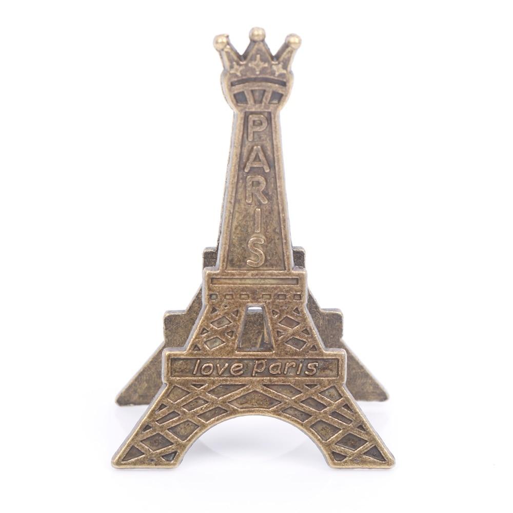Retro Style Paris Eiffel Tower Metal Clips Photo Bookmark Decoration Memo Card Paper Clip Office Supplies Accessories Gift Kids