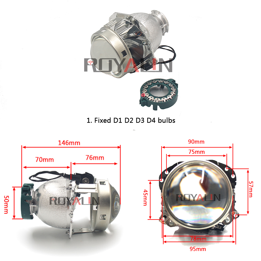 Hella EVOX 2.0 D2S proyektor üçün ROYALIN BMW E39 E60 Ford Audi A6 - Avtomobil işıqları - Fotoqrafiya 3