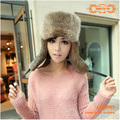 CDH005 100% Real Rabbit Fur Hat with Ear Flaps For Women Winter For Keep Warm