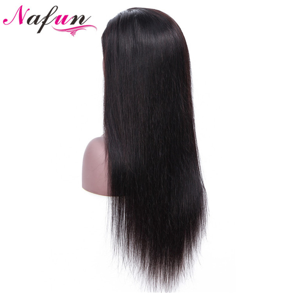 NAFUN Lace Front Human Hair Wigs For Black Women Malaysian Remy Straight Lace Front Wig Free