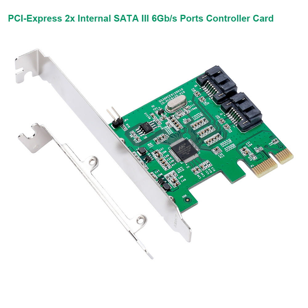 PCI-Express SATA III (6Gb/s) Controller Card ,2x Internal SATA III 6Gb/s Ports ,Marvell 88SE9170 Chipset IO-PCE9170-2I