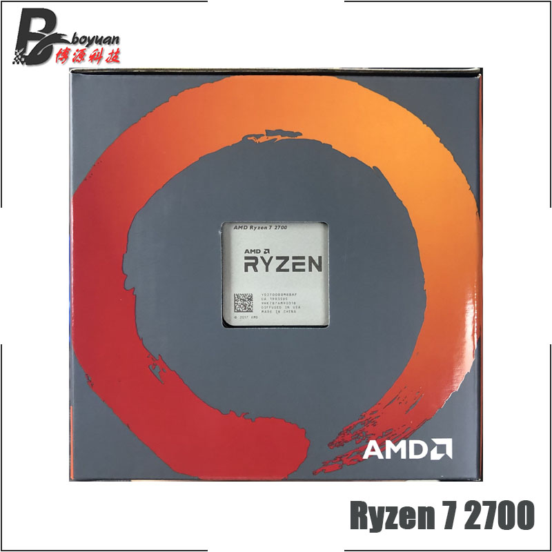 Image 4 - AMD Ryzen 7 2700 R7 2700 3.2 GHz Eight Core Sinteen Thread CPU Processor L3=16M 65W YD2700BBM88AF Socket AM4 New and with fan-in CPUs from Computer & Office