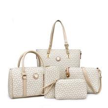 Women Bags printing high grade leather handbag New five-piece Purses and Handbags brand fashion women shoulder messenger bag