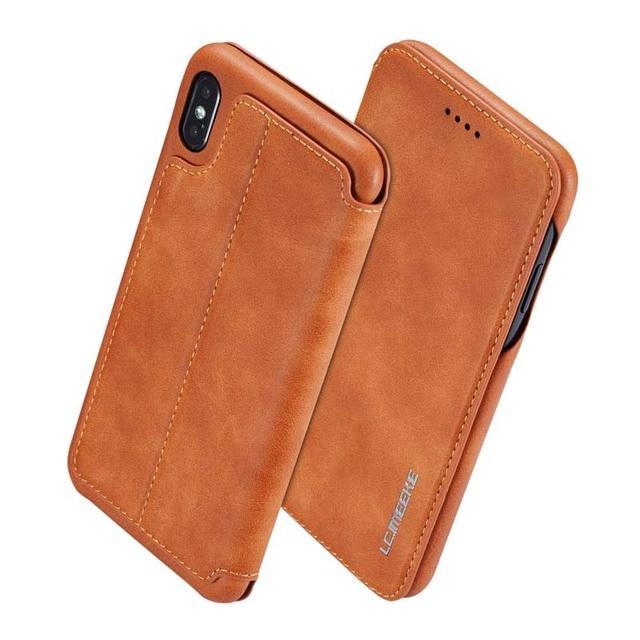 Original Flip Wallet Leather Business Retro Book Design Magnetic For iphone XS Max XR XS X 6 6S 6Plus 7 8 7Plus 8Plus  JS0715 1