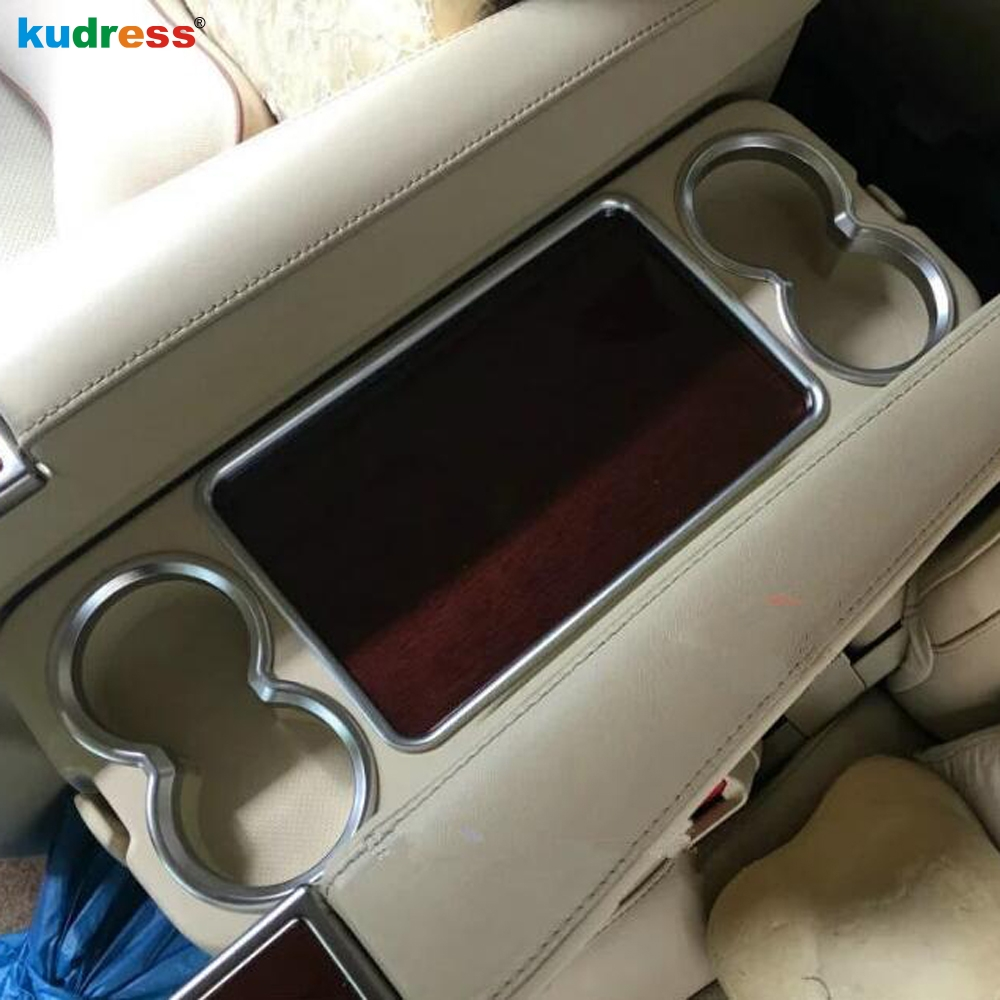 For Toyota Alphard Vellfire 2016 -2018 ABS Car Styling Rear Seat Water Cup Holder Decoration Cover Interior Molding Strip Trim accessories for chevrolet camaro 2016 2017 abs carbon fiber style the co pilot central control strip molding cover kit trim