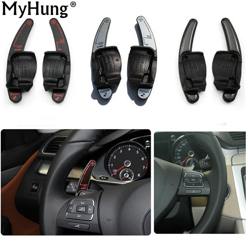 Car Steering Wheel Shifters Paddle DSG For Volkswagen VW Golf 6 Jetta MK6 Golf MK5 SCIROCCO CC Passat Carbon Fiber Car Styling waterproof rubber hk right hand steering wheel car floor mats for volkswagengolf 5 6 scirocco with gti tsi r r golf logo