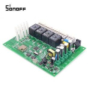 Image 3 - Sonoff 4CH Wifi anahtarı akıllı ev 4 kanal uzaktan kumanda ev otomasyon modülü açık/kapalı kablosuz zamanlayıcı DIY anahtarı din raylı montaj