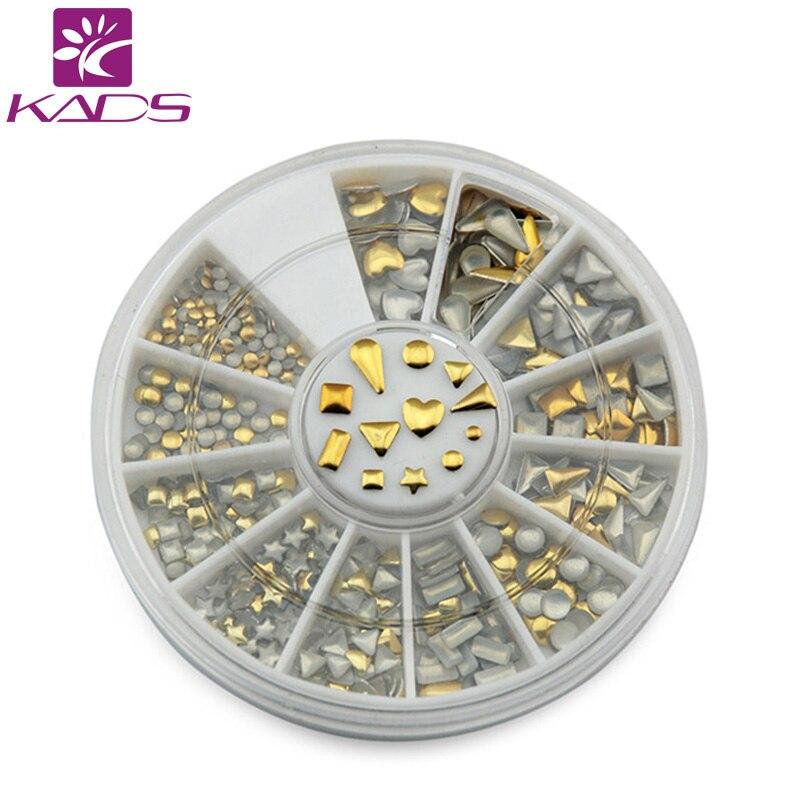 KADS Nail Art Metallic Flakes Nail Art Decorations 3D Nails Accessories Design Bling Metal Flake Metallic Mixed Gold & Silver