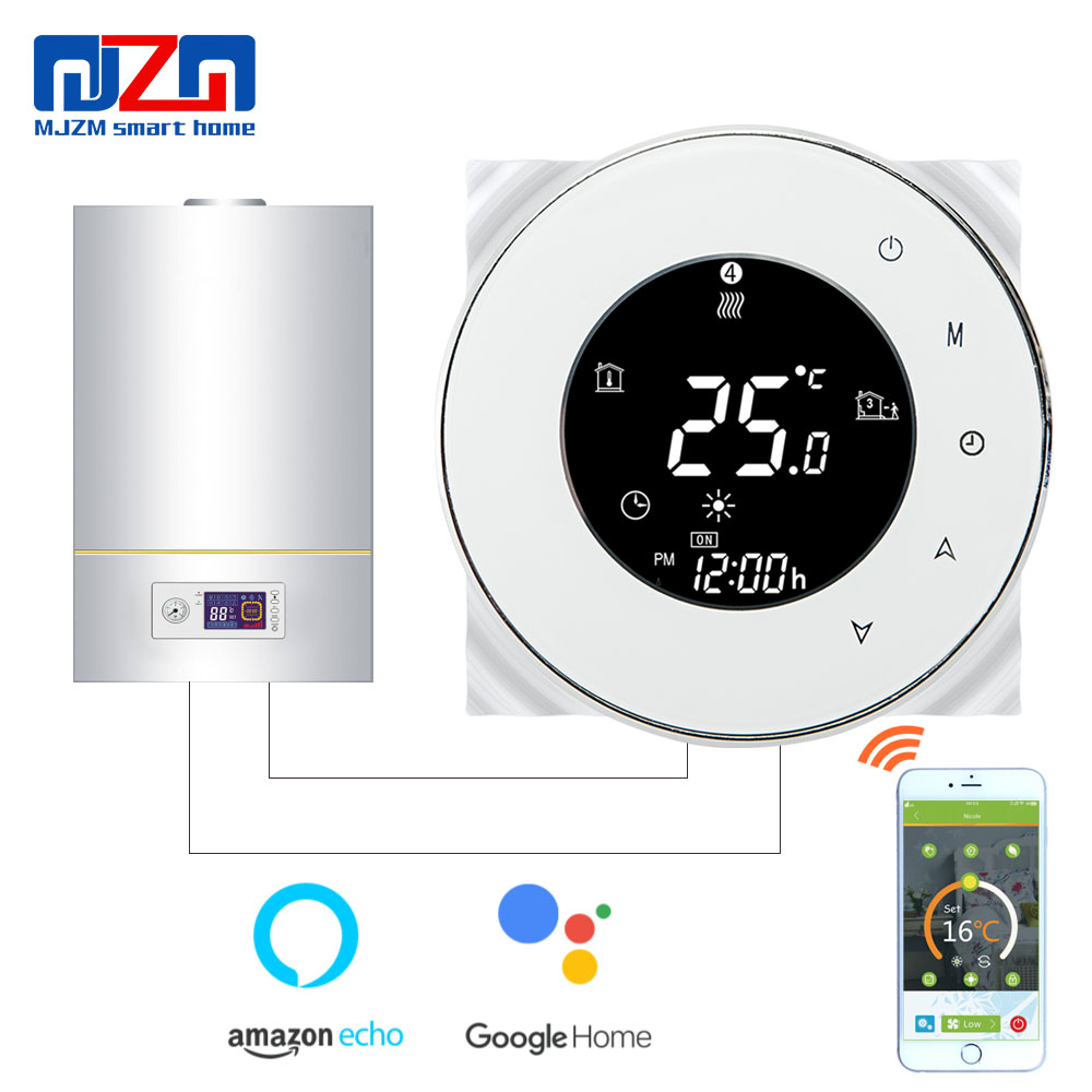 MJZM GL 6000 WiFi Boiler Thermostat Digital Temperature Controller fits Google Home Auto Control Boiler Heating