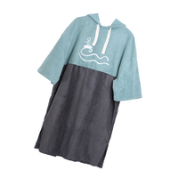 Beach Surf Poncho Quickly Dry Wetsuit Hooded Towel for Men Women Swimming Robe Dress Suit Changing at Poll and Beach
