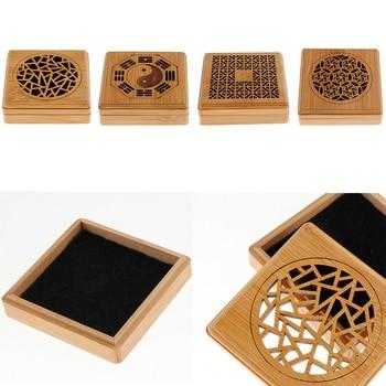 Soporte para quemador en espiral de incienso de bambú dentro de 4 horas varios patrones Vintage, hielo agrietado, rueda, flor, los ocho trigramos