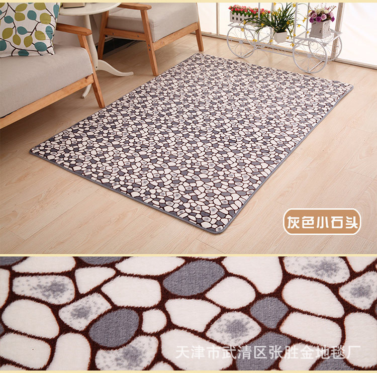 Cobblestone Flower Pattern Lliving Room Mat Carpet Bathroom Slip-resistant Mats Doormat Kitchen Mat Tapete Para Quarto