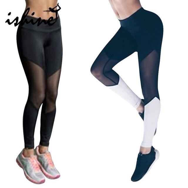 Mujeres Leggings Deportivas Fitness Yoga Pantalones negro blanco Leggings  Atlético Sport Tight Mallas Mujer Deportivas gimnasio 956454a6eba95