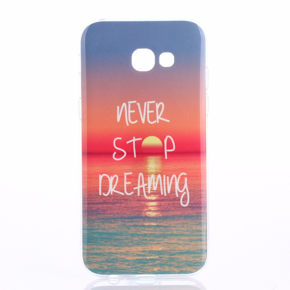 colorful silicone back cover for coque samsung galaxy a3 2017 case tpu soft pattern case for. Black Bedroom Furniture Sets. Home Design Ideas