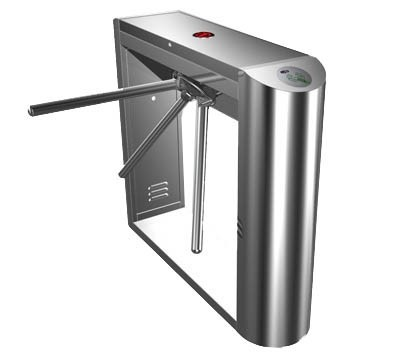Automatic tripod turnstile with built-in electronics and 2 readers remote control panel for access control system automatic tripod turnstile with built in electronics and 2 readers remote control panel for access control system