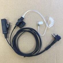 Büyük PTT temizle hava tüp kulaklık kulaklık M fiş için 2 pins motorola A8, ep450, cp040, gp88s, gp2000, Hytera walkie talkie