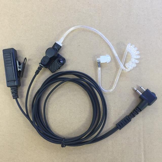 Grote PTT clear air tube headset oortelefoon M plug 2 pins voor motorola A8, ep450, cp040, gp88s, gp2000, Hytera walkie talkie