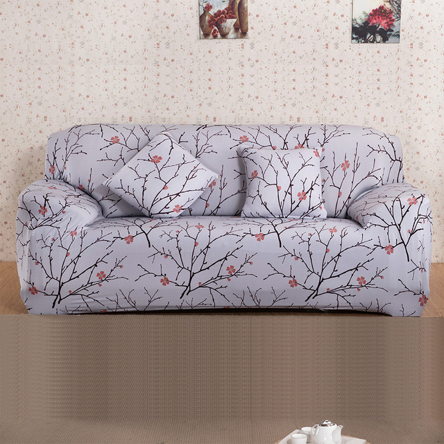 24 Printed Color Cloth Art Turnkey Antiskid Spandex Stretch Sofa Cover Big  Elastic Sofa Furniture Cover